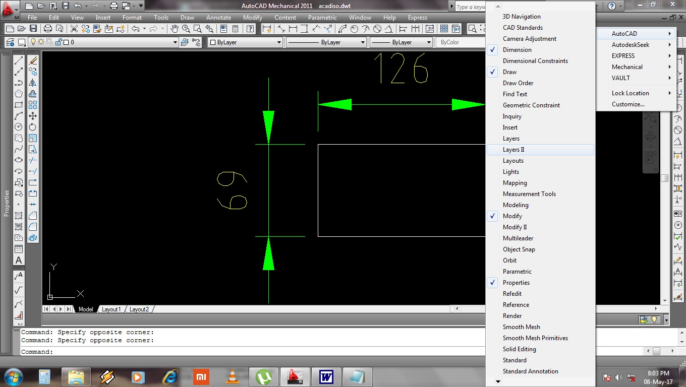 All Layer On Button Missing In Layer Ii Toolbar In Autocad
