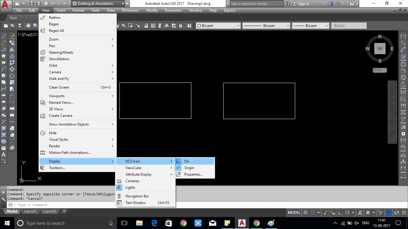 2 Ways To Restore Missing UCS Icon In AutoCAD Showing With