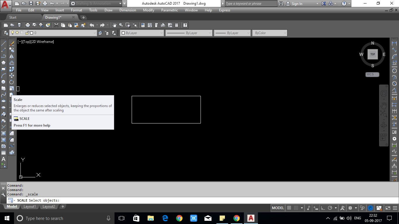 Reduce or enlarge drawing in AutoCAD