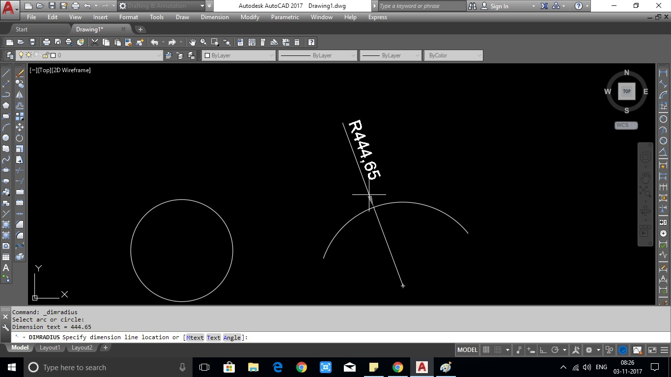 How To Give Dimension For Arc & Circle In AutoCAD